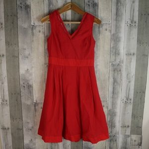 United Colors of Benetton A Line Coral Dress